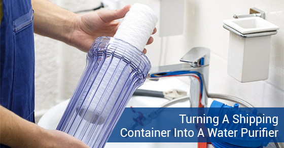 Turning A Shipping Container Into A Water Purifier