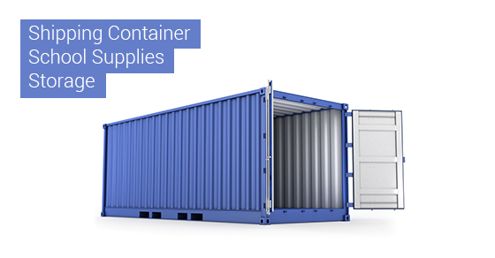 Shipping Container School Supplies Storage