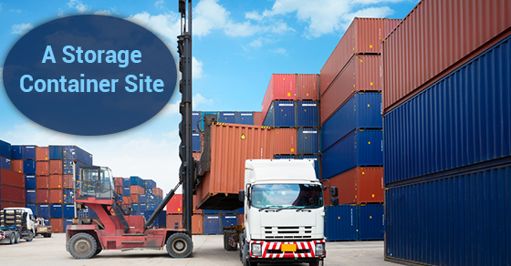 A Storage Container Site