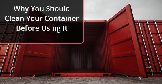 Cleaning Your Container Before Using It