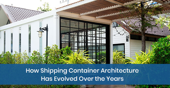 Evolution of shipping container architecture