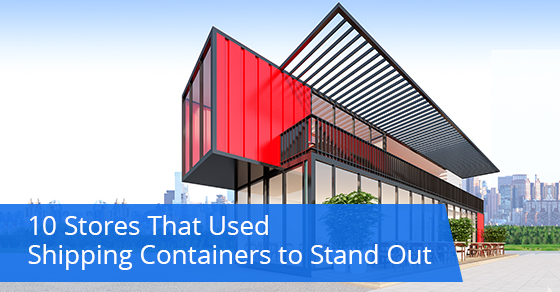 Shipping containers used on brands