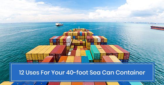 Uses of sea can containers