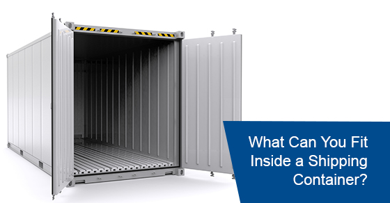 What can you fit inside a shipping container?