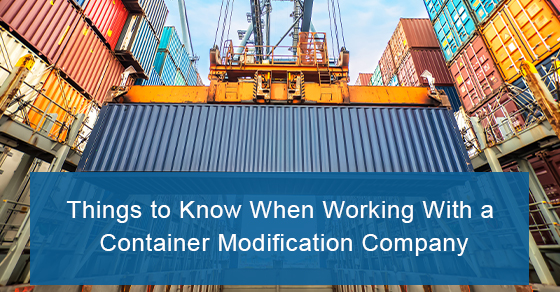 Shipping container modification company